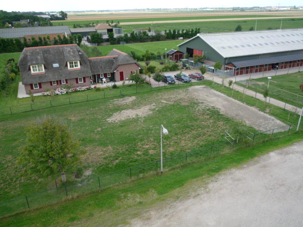 Aerfotos Manege Meerse Ruiters, IJweg, Nieuw Vennep, NL, 2009-08-03
