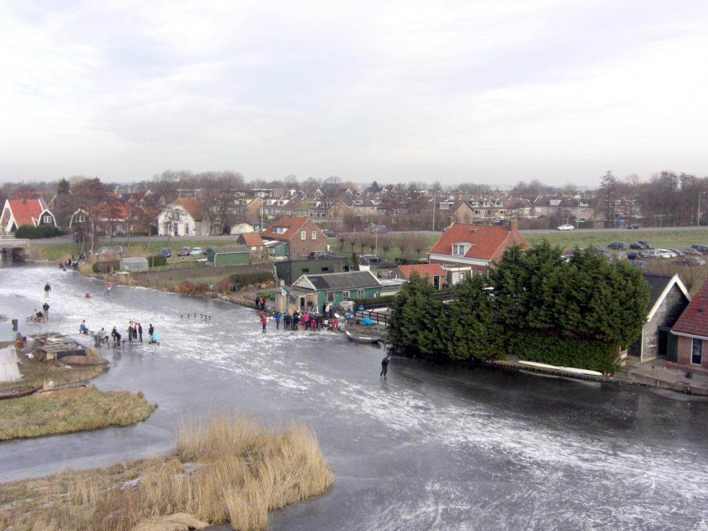 Aerfotos Schaatsen, Groeneweg, Schermerhorn, NL, 2009-01-11
