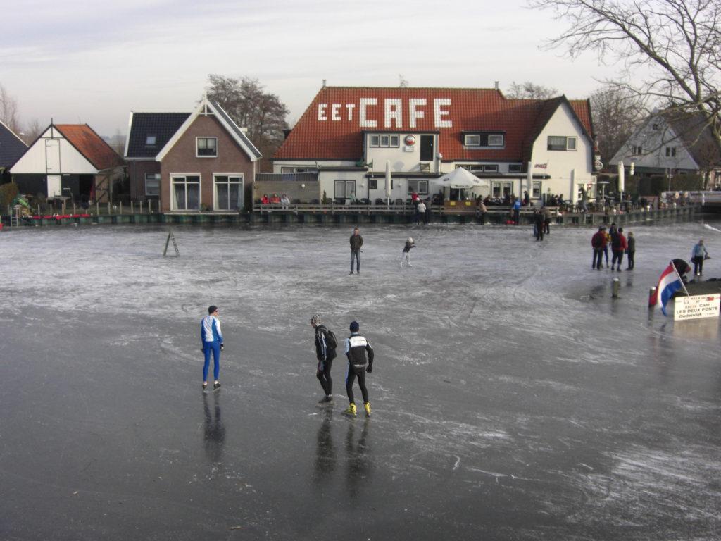 Aerfotos Schaatsen, Noorddijk en Beetskoogkade, Oudendijk, NL, 2009-01-11